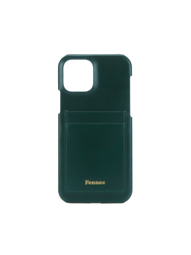 페넥  FENNEC . LEATHER IPHONE 12 / 12 PRO CARD CASE - MOSS GREEN
