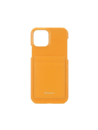 페넥  FENNEC . LEATHER IPHONE 12 / 12 PRO CARD CASE - MANDARIN