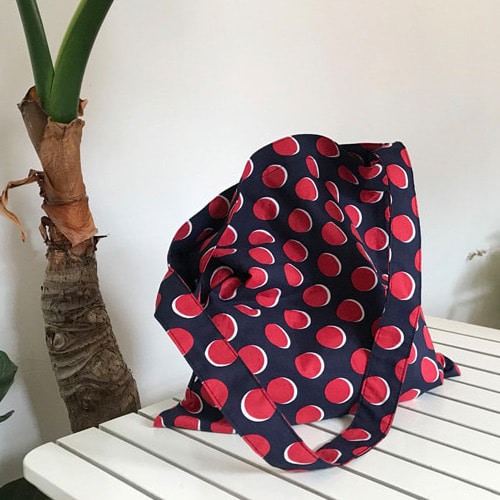 멜로우모먼트 mellow moment  aloha bag . dot navy