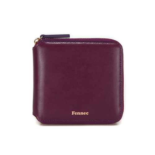 15% sael . 페넥  FENNEC  zipper wallet .plum purple