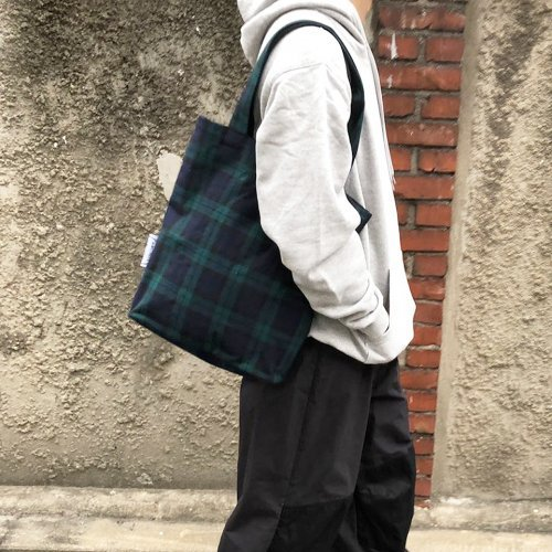 씨씨씨프로젝트 ccc project . simple tote bag . tartan