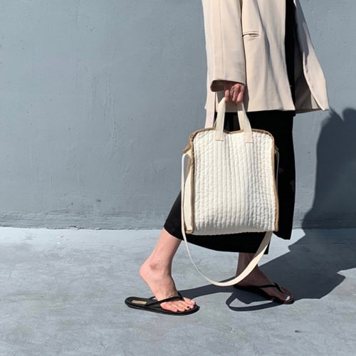 노리 nolee . cotton bebe bag . beige